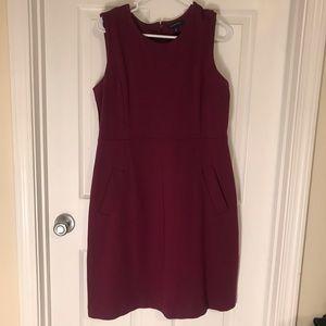 Maroon or burgundy Lands End dress, WITH POCKETS!
